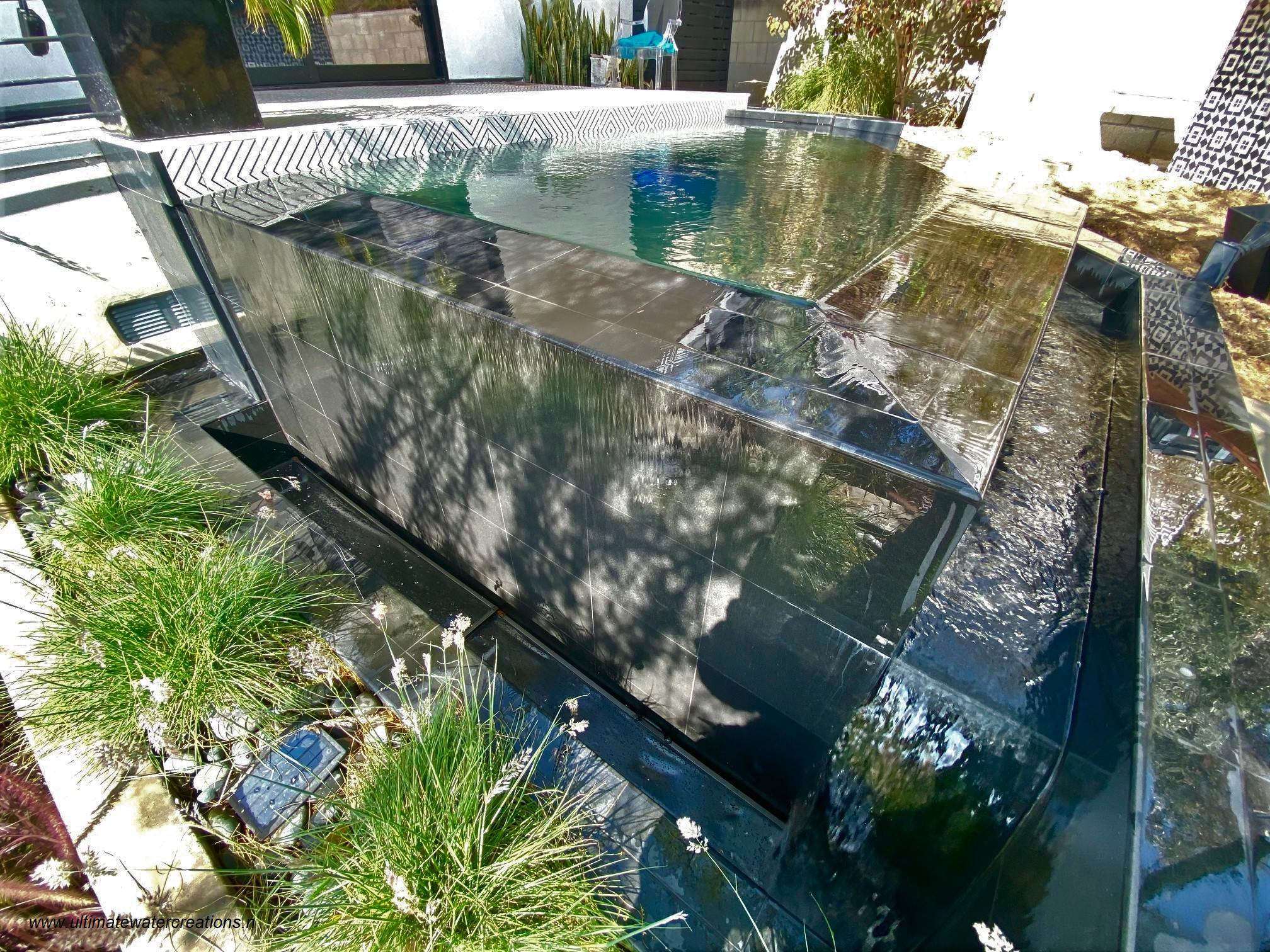 Los Angeles Contemporary Spa Build with Remodeled Deck and Backyard