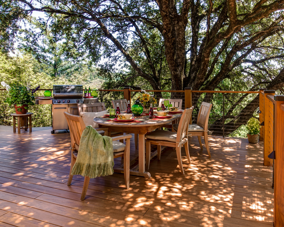 Inspiration for a timeless deck remodel in San Francisco with no cover