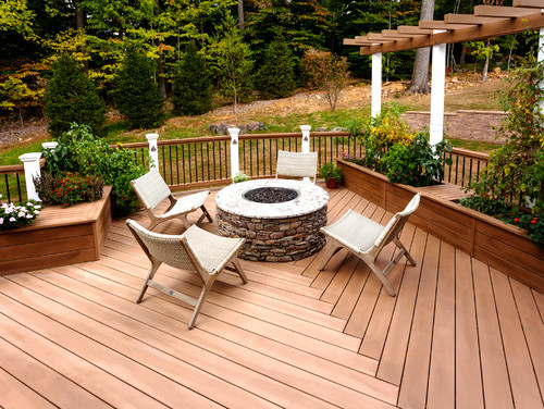 decks with fire pits