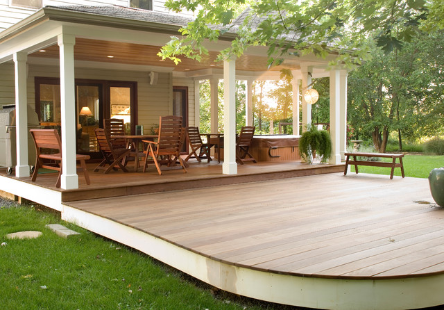 Luxury Deck Remodel with Hot Tub Jacuzzi - Traditional - Deck - philadelphia - by Penn ...