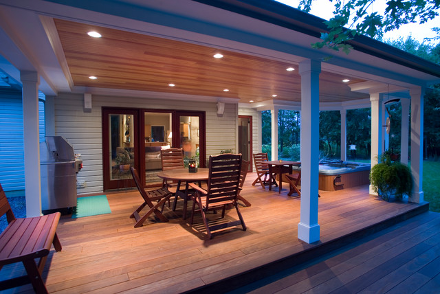 Luxury Deck Remodel With Hot Tub Jacuzzi Traditional