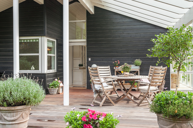 Luxury summerhouse in denmark scandinavian patio for Danish terrace