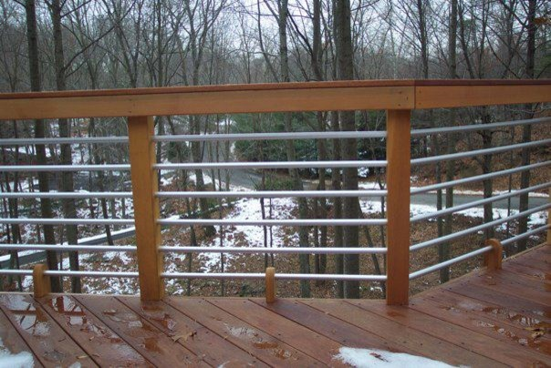 Mahogany Deck amp Pipe Rail In Stamford CT Contemporary deck