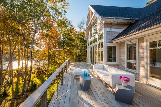Maine Contemporary beach-style-deck