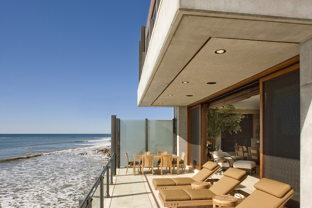 Malibu Road Beach House Contemporary Deck