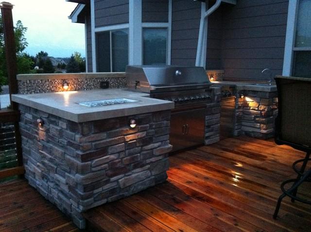 Martinez Redwood Deck With Outdoor Kitchen Loveland Co