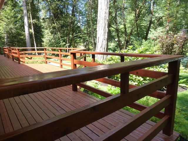 Mckenzie River Deck Refinish Farmhouse Deck Other By