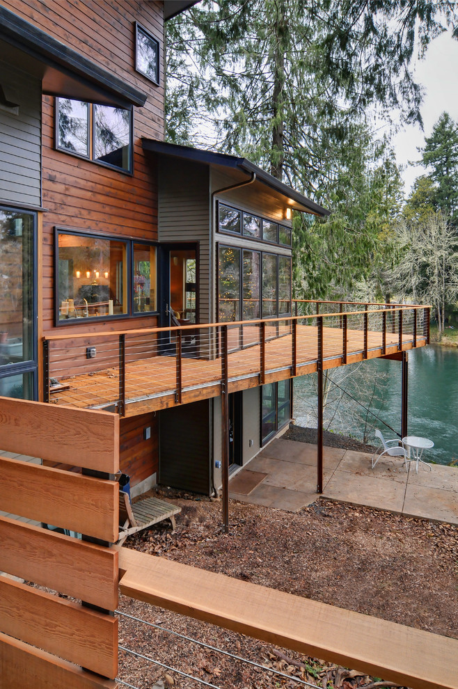 Deck - contemporary deck idea in Other with no cover