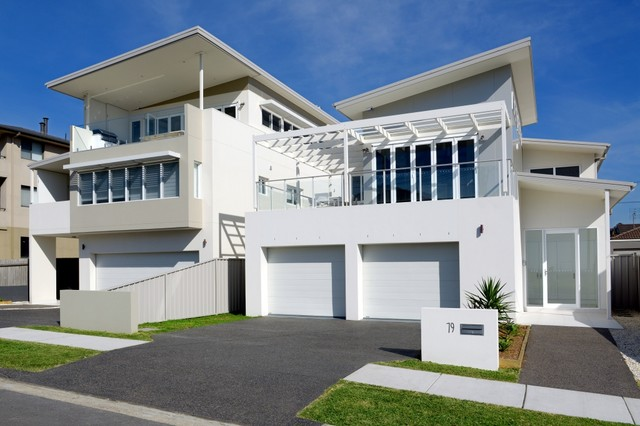 Merewether 2 new houses at the beach beach style deck for Beach house designs newcastle