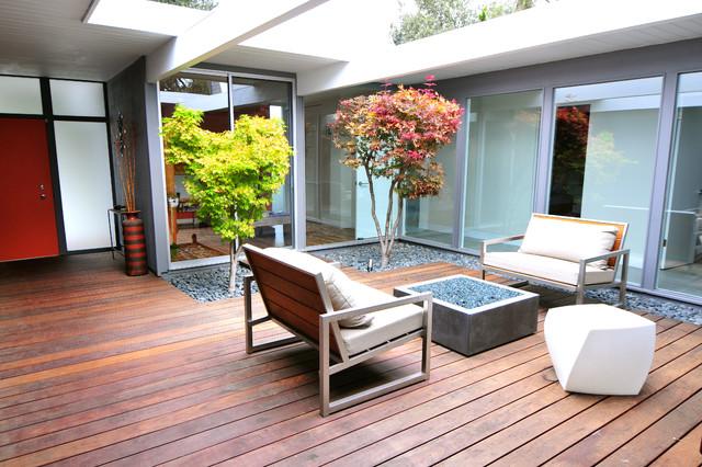 Interior designers decorators mid century modern eichler renovation midcentury deck