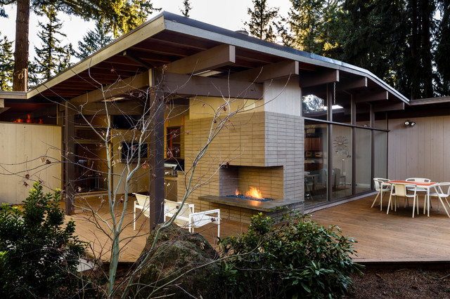 Mid Century Portland Midcentury Deck Portland By Risa Boyer Architecture