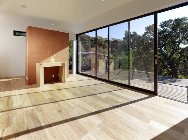 Mill Valley Contemporary MASTER BEDROOM AND DECK modern-deck