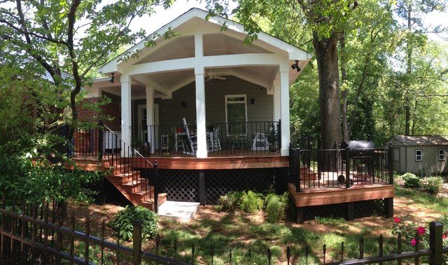 Milledge Terrace Covered Deck Traditional