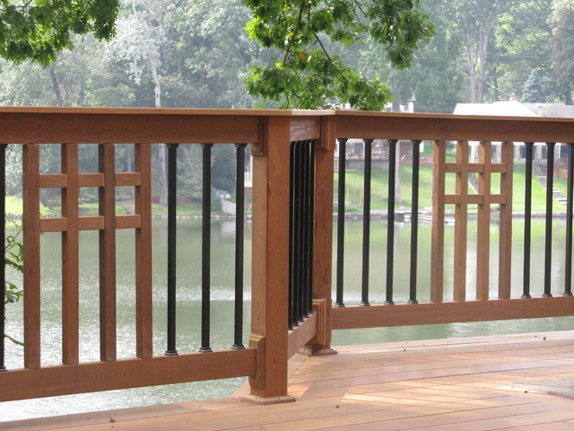 Mission Style Ipe Deck With Custom View Privacy Walls