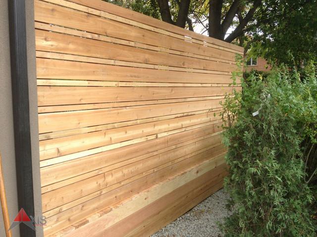 Modern Cedar Privacy Screen modern-deck