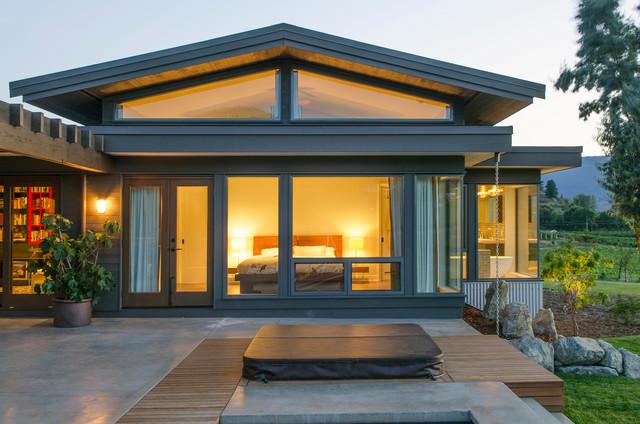 Modern craftsman custom homes modern deck