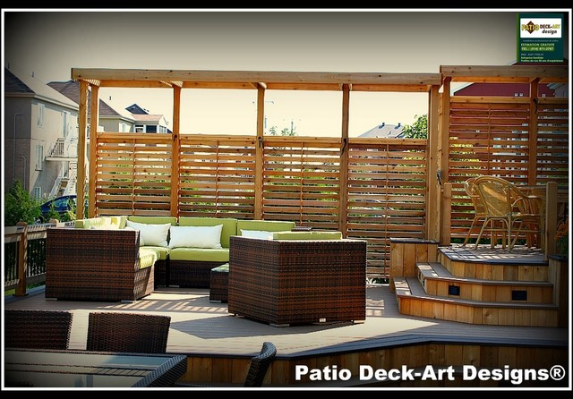 Patio deck art designs outdoor living modern deck for Design patio exterieur
