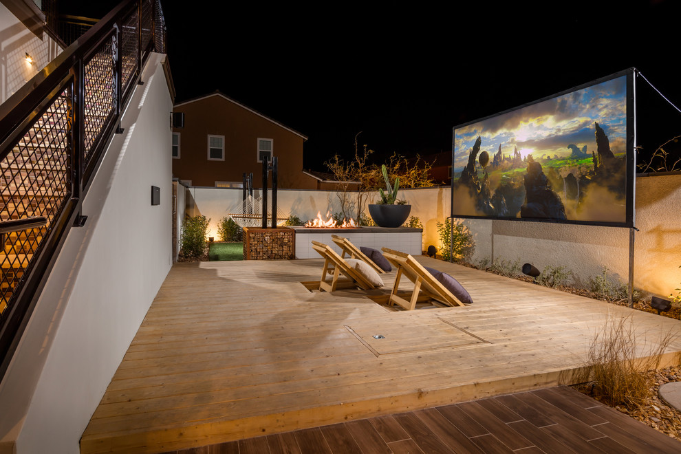 Deck - transitional deck idea in Los Angeles with no cover