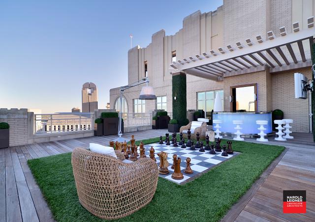Private Residence Modern Rooftop Garden Modern Deck