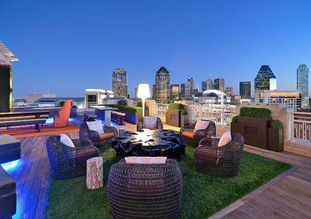 Private Residence - Modern Rooftop Garden modern-deck