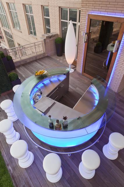 Modern Rooftop Garden contemporary-deck
