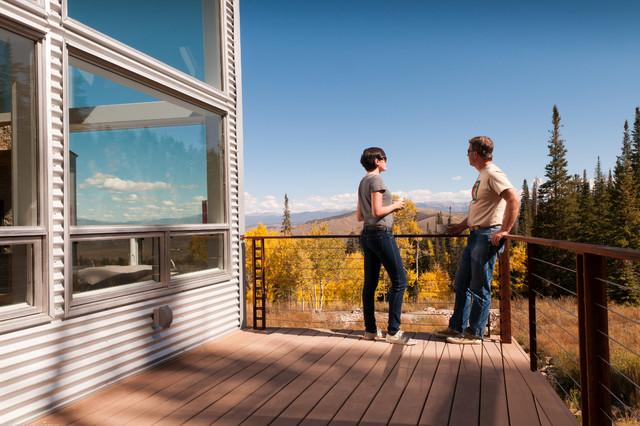 Modern Mountain Cabin Contemporary Deck Denver By