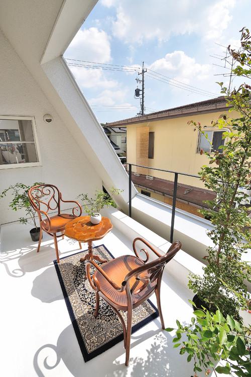 terraza casa japonesa en Okazaki