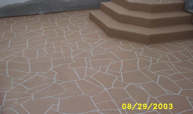 Slate Concrete Patio Makeover R U L Y .