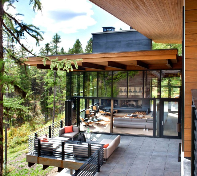 Patio And Deck Builders Denver: Mountain Side Modern Nest