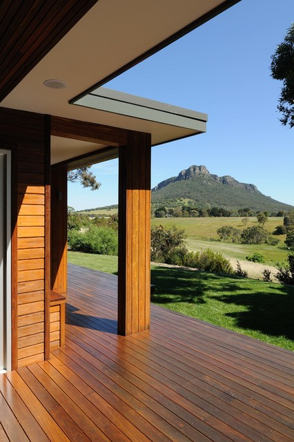 Mountain view for Modern view decking