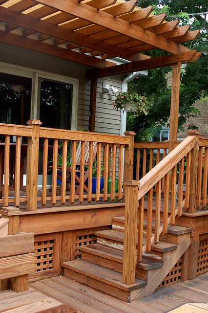 Multi Level Deck Traditional Porch Chicago By