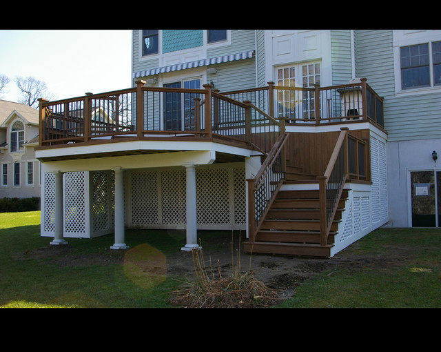 Multi Level Ipe Deck In Mount Vernon Ny Traditional