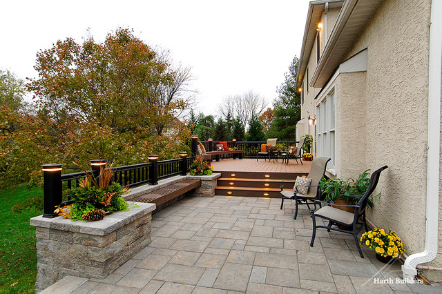 Multi Level Patio Traditional Deck Philadelphia By