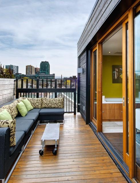 My Houzz: Third Floor Roof Deck transitional-deck