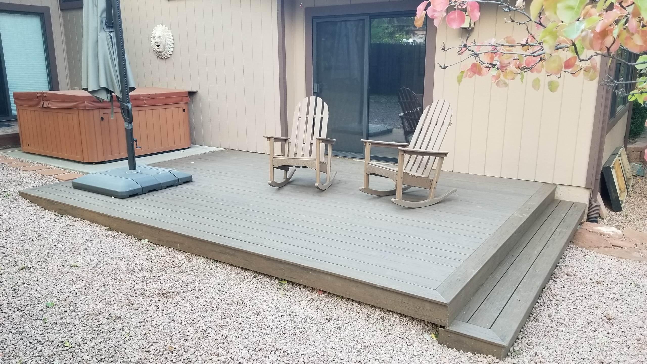 New composite decks are super easy outdoor hangouts
