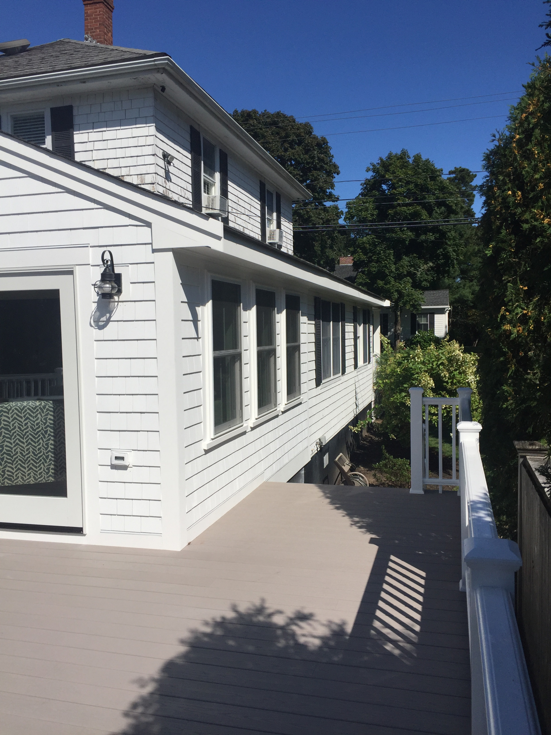 New deck and front porch for an antique home!