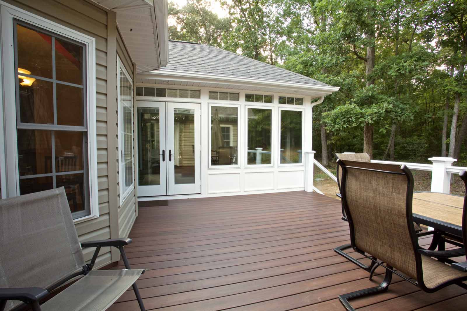 New Deck and Sunroom