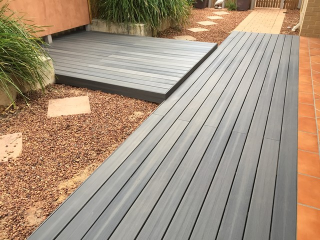 Nexgen composite decking grey birch modern deck - Decke modern ...