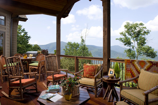 North carolina mountain home transitional deck for North carolina mountain house plans