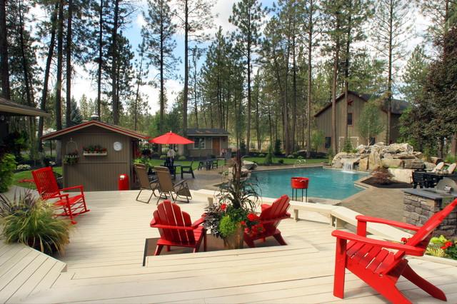 Landscape Boulders Spokane : North spokane backyard