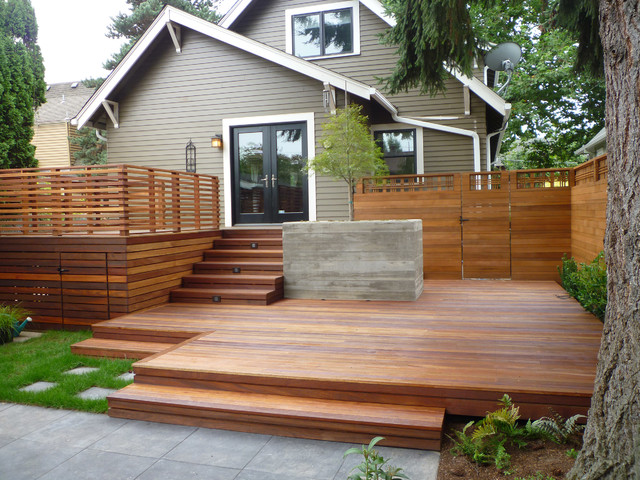 Nw Backyard Blues 1 Traditional Deck Portland By Platform Design Studio
