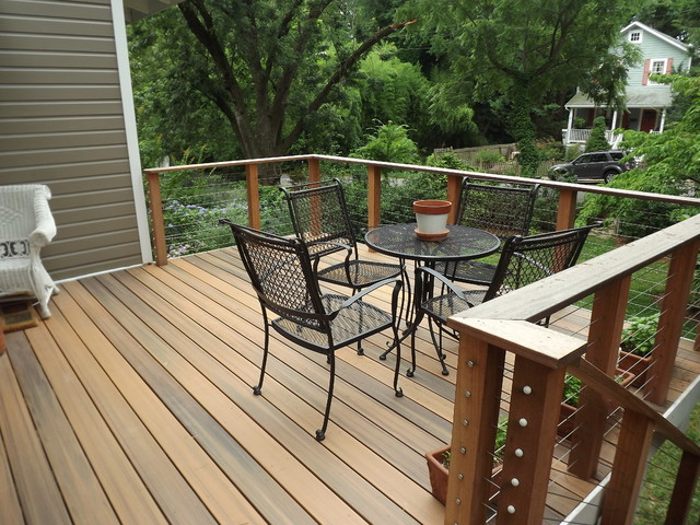 NW Washington DC Custom Deck contemporary-deck