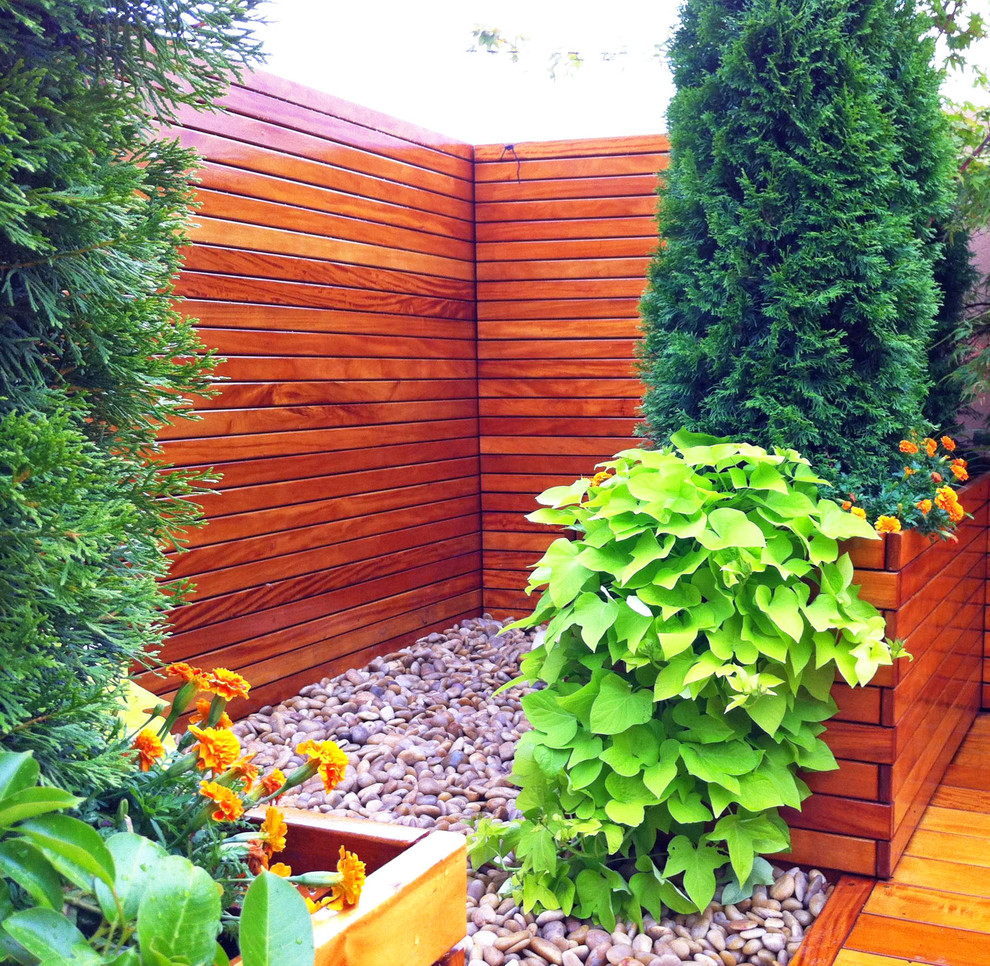 Nyc Roof Deck Roof Garden Terrace Fence Planter Boxes Container Plants Zen Contemporary Deck New York By Amber Freda Garden Design