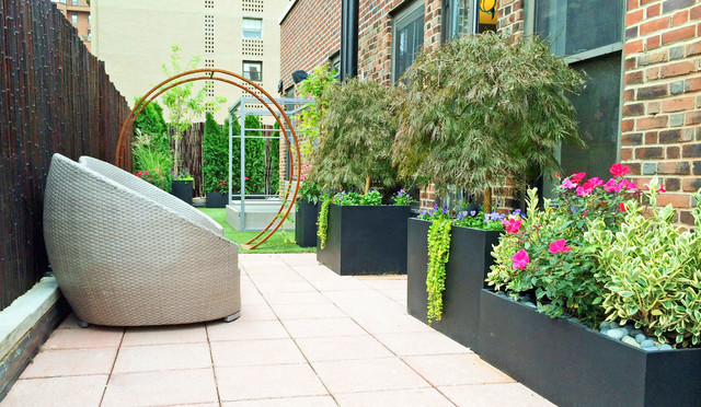 Nyc Roof Garden Artificial Turf Gracie Arbor Wicker