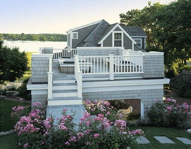 Ocean Cottage Roof Deck & Portico - Beach Style - Deck - boston - by ...