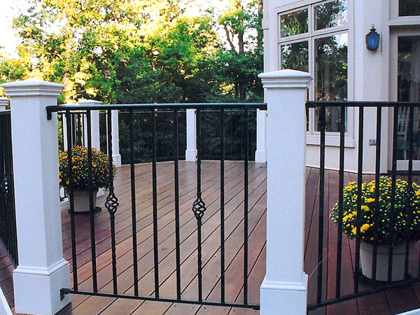 Octogonal Deck With Wrought Iron