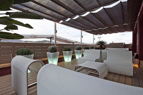 Office terrace design contemporain terrasse en bois for Terrasse design contemporain