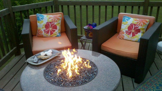 Oriflamme Fire Table traditional-deck - Oriflamme Fire Table - Traditional - Deck - Denver - By All Backyard Fun