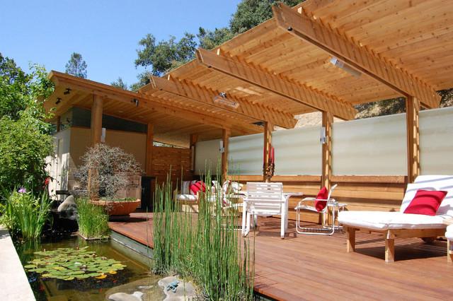 4 Post Cabana : Orinda veranda and cabana contemporary deck san