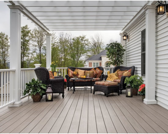 Large terrace and balcony design ideas renovations photos - Large balcony decorating ideas ...